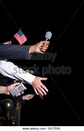 Crowd at a political rally - Stock Image