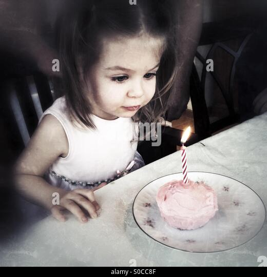 Birthday Candle - Stock Image
