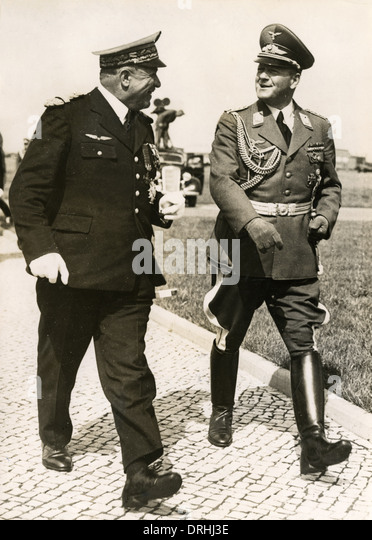 General Vuillemin and General Milch, Berlin - Stock Image