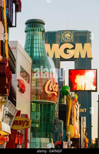 Advertising hordings, The Strip, Las Vegas, Nevada, USA - Stock Image