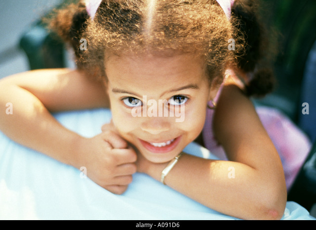 3 year old girl - Stock Image