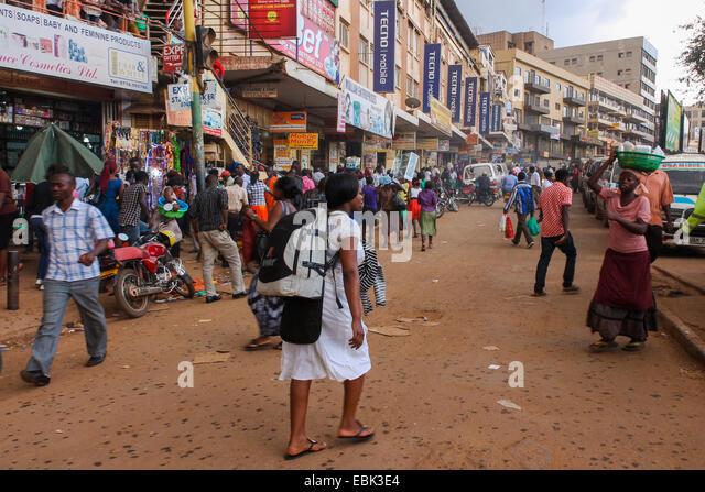 Travel life in downtown Kampala. - Stock-Bilder