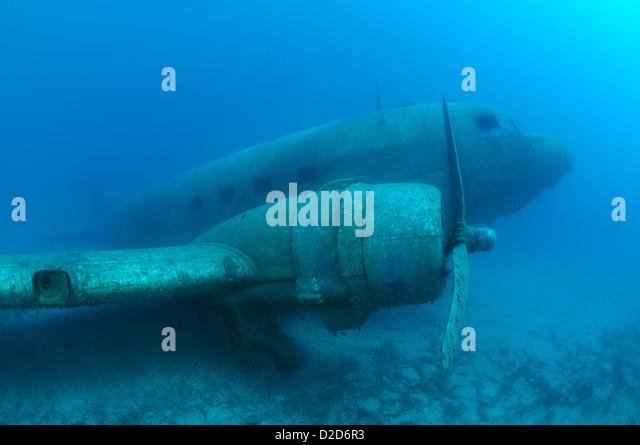 plane wreck Douglas DC-3 'Dakota', Mediterranean Sea, Turkey, Kash - Stock Image