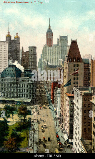 NEW YORK - BROADWAY DOWNTOWN - Early 20thC - Stock Image