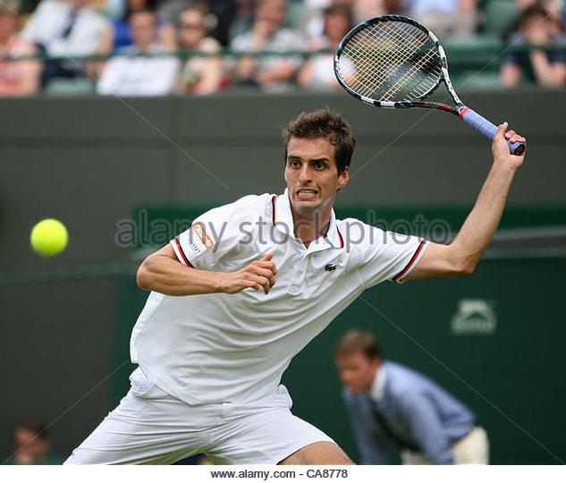 25/06/2012 - Wimbledon (Day 1) - Roger FEDERER (SUI) vs. Albert RAMOS (ESP) - Albert Ramos - Photo: Simon Stacpoole - Stock-Bilder