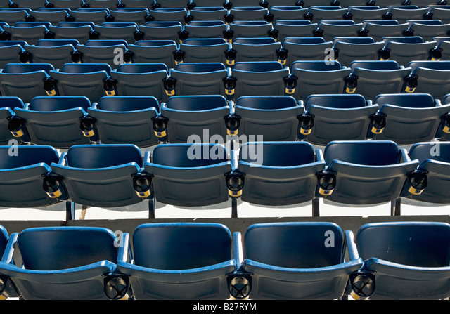 Empty rows of seating - Stock Image