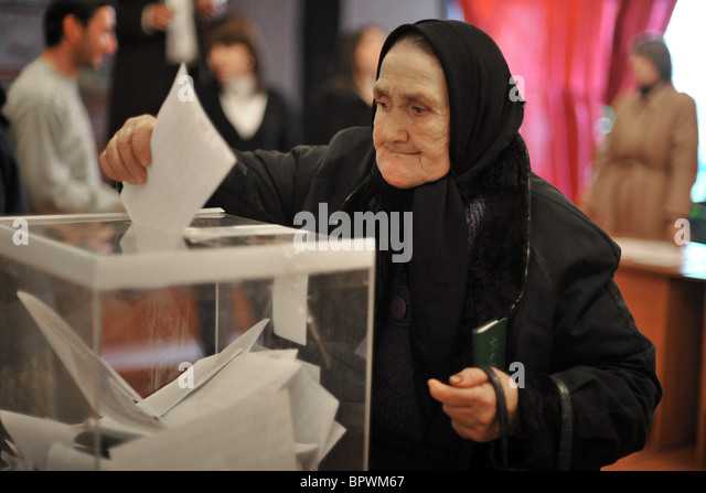 Presidential election in Abkhazia - Stock Image