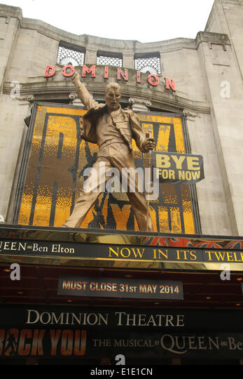 London, UK. 31 May 2014. The musical 'We Will Rock You' that has been running at the Dominion Theater opening - Stock Image