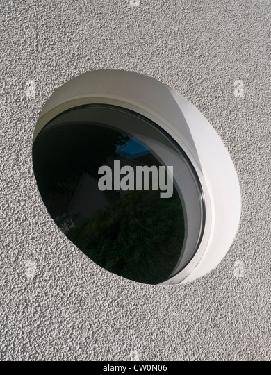 Round window - France. - Stock Image