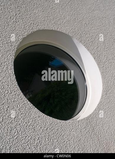 Round window - France. - Stock Image