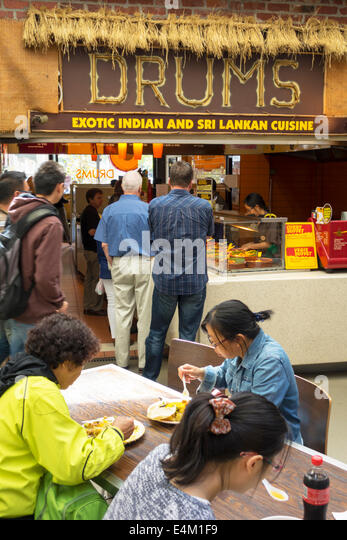 Melbourne Australia Victoria Central Business District CBD Queen Victoria Market Drums restaurant Indian Sri Lankan - Stock Image