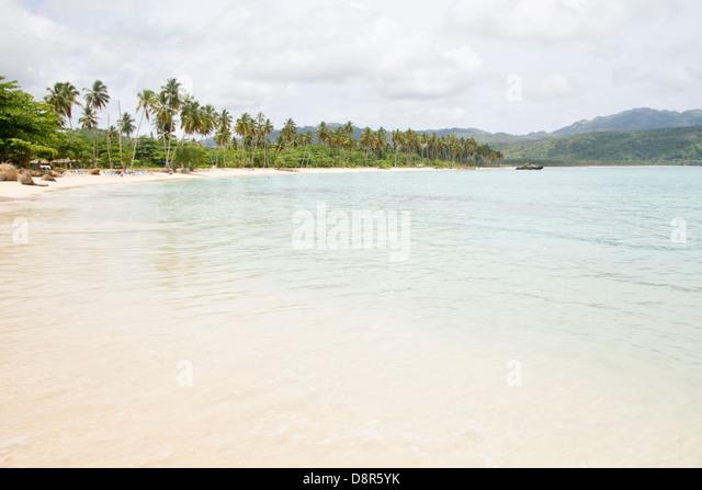Rincon beach, Dominican Republic. - Stock Image