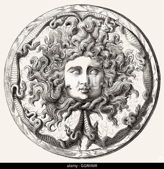 Medusa, Greek mythology - Stock Image