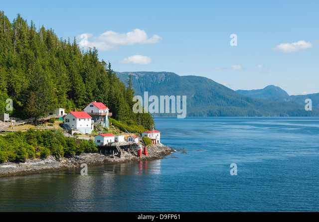 Boat Bluff Lightstation, Inside Passage, British Columbia, Canada - Stock Image