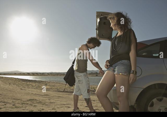 friends traveling - Stock-Bilder