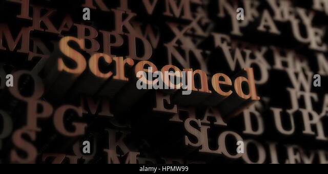 Screened - Wooden 3D rendered letters/message.  Can be used for an online banner ad or a print postcard. - Stock Image
