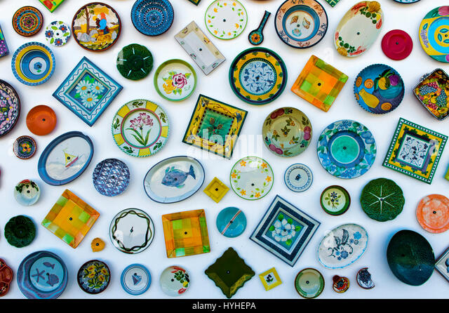 Artesanato A Mó Sagres ~ Pottery Handicraft Stock Photos& Pottery Handicraft Stock Images Alamy
