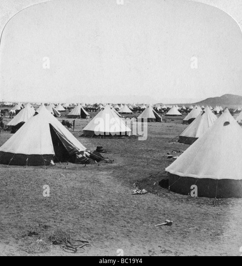 Military camp at De Aar, South Africa, Boer War, 1900. - Stock Image
