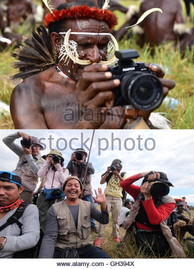 Chief Moko in action - Stock Image