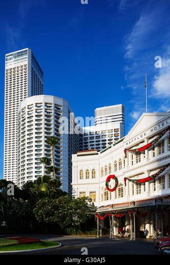 Raffles Hotel, Singapore, Southeast Asia, Asia - Stock Image