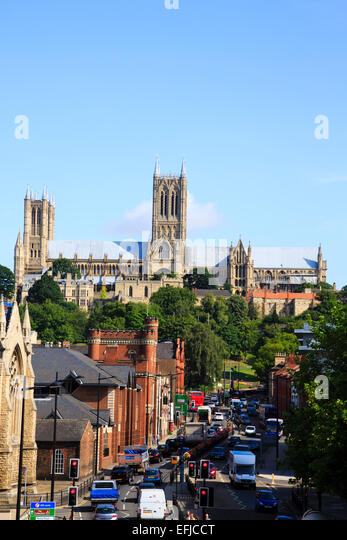 Lincoln Cathedral, Lincoln, England - Stock Image