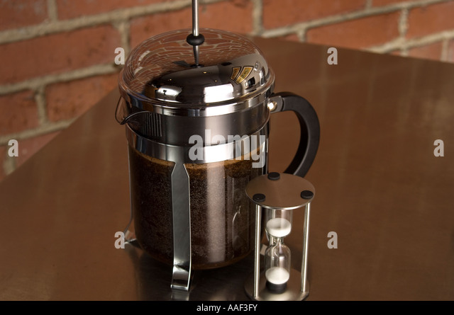 French Press Coffee Maker With Timer : Steeping Stock Photos & Steeping Stock Images - Alamy