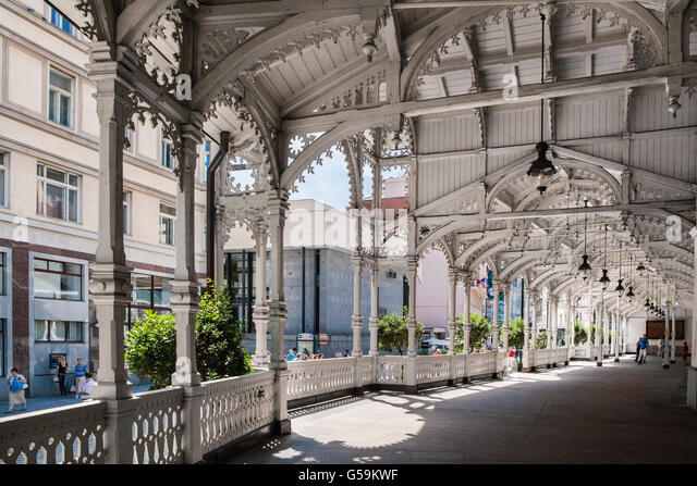 Market Colonnade,Czech republic - Stock-Bilder