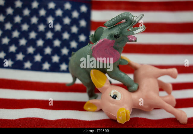 Democrats and Republicans - Stock Image