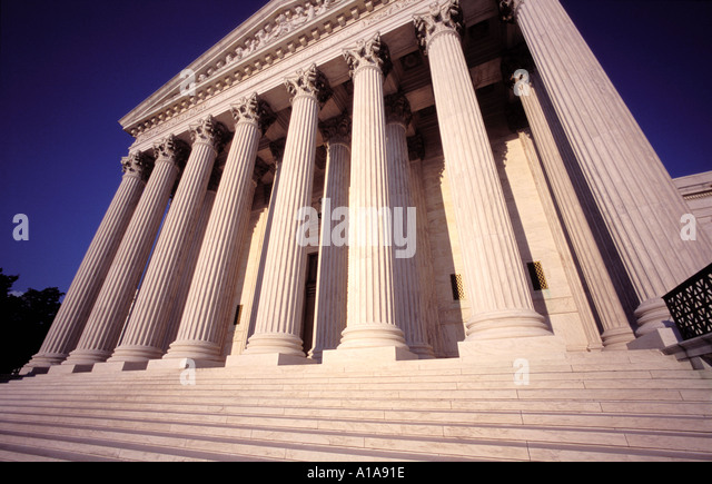 US Supreme Court Building, Washington D.C. - Stock Image