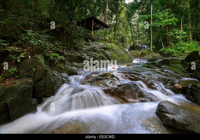 Malaysia, Selangor State, Semenyih, Sungai Tekala Recreational Forest, Mountain river - Stock Image