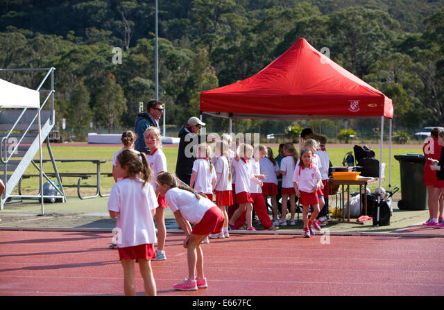 australian sydney primary school athletics day and competition, sydney,new south wales,australia - Stock Image