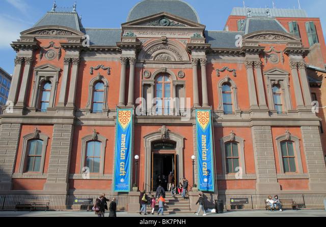 Washington DC Pennsylvania Avenue Smithsonian American Art Museum Renwick Gallery National Historic Landmark Second - Stock Image