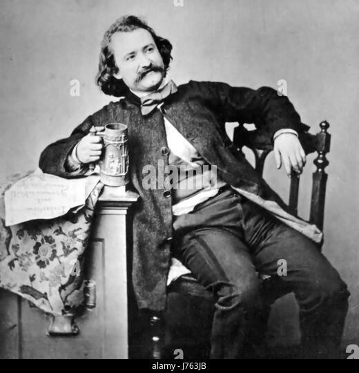WILHELM BUSCH (1832-1908) German cartoonist and poet and artist in 1860 - Stock-Bilder