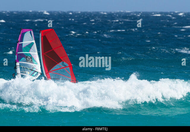 Wind Surfing, Esperance,Western Australia - Stock Image