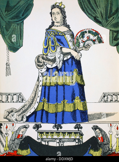 Anne, Queen of Great Britain and Ireland from 1702, (1932). Artist: Rosalind Thornycroft - Stock Image