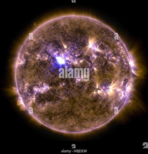 Sun Emits M6.5 Class Solar Flare, 2013 - Stock Image