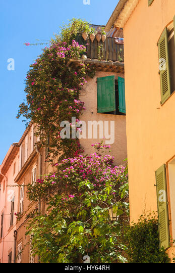 st tropez typical houses - Stock Image