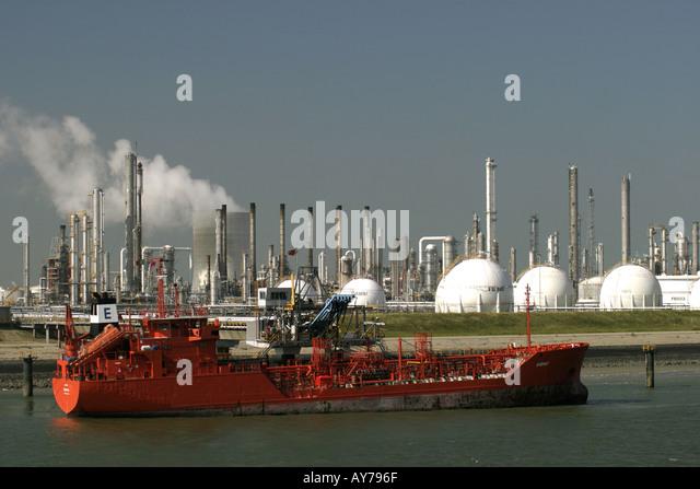Holland River Schelde Industry - Stock-Bilder