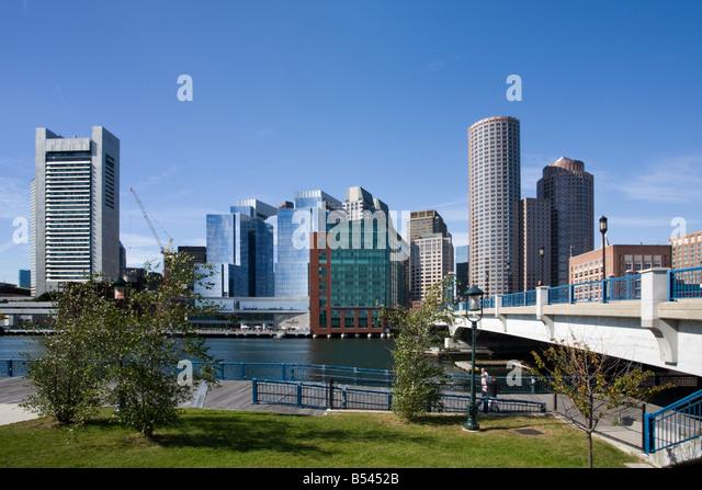 Skyline of Boston Massachusetts - Stock Image