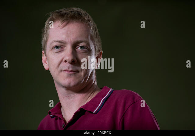 Writer, musician and journalist Doug Johnstone appears at the Edinburgh International Book Festival. - Stock Image