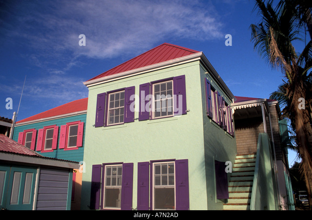 British Virgin Islands Tortola Soper s Hole Wharf - Stock Image
