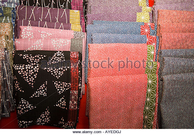 Japanese cloth - Stock Image