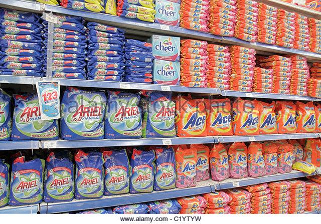 Cancun Mexico Yucatán Peninsula Quintana Roo Avenida Tulum Plaza las Americas shopping mall Chedraui discount - Stock Image
