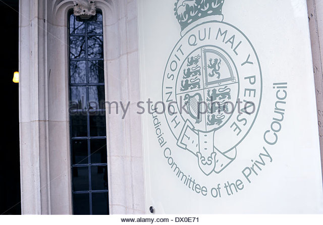 London UK Judicial Committee of the privy council. - Stock Image