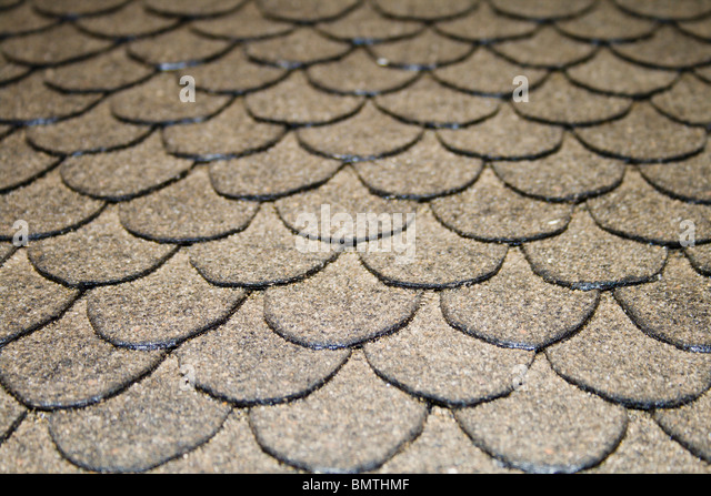A gray tile roof. - Stock-Bilder