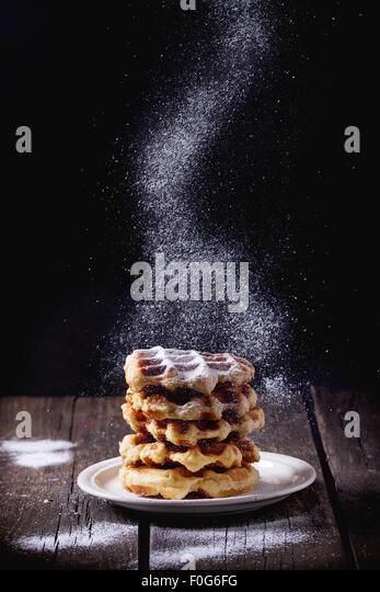 Belgian waffles - Stock Image