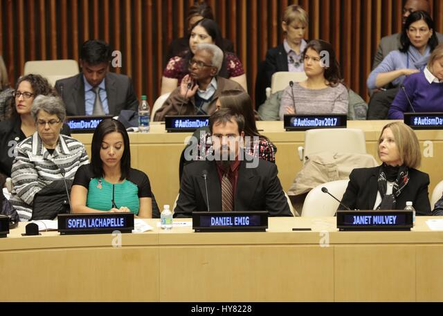 United Nations, New York, USA, 31 March 2017 - Sofia Lachapelle along with Hundreds of guests participated on the - Stock Image