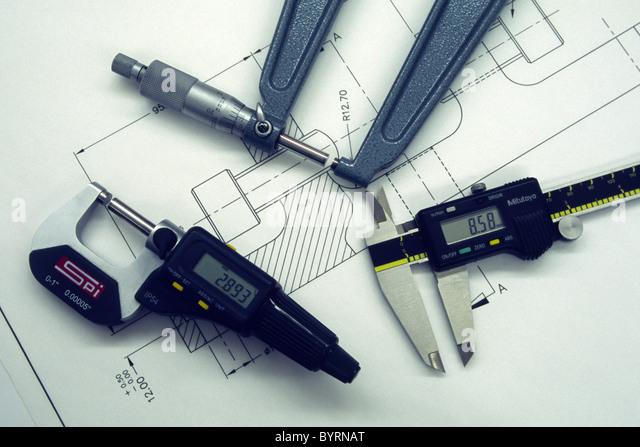 Engineering Measuring Instruments : Vernier digital stock photos