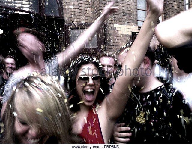 People Dancing In Party - Stock-Bilder