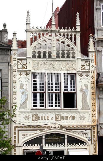 Old Library, Livraria Lello bookshop , Porto, Portugal, Europe - Stock-Bilder